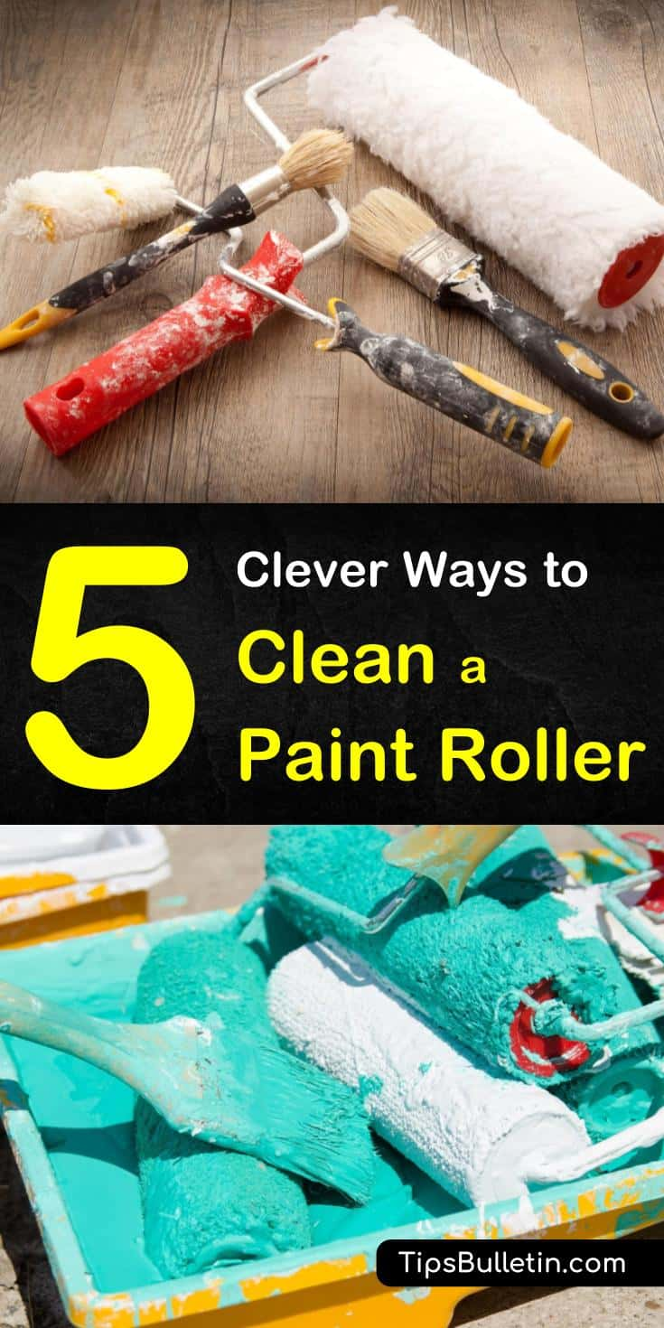 Discover the 5 most ingenious tips for cleaning and maintaining paint rolls and brushes in this article. Design studios, the family handyman, and professional house painters alike can benefit from the tips and tricks in this guide. #paintrollercleaning #clean #paintroller