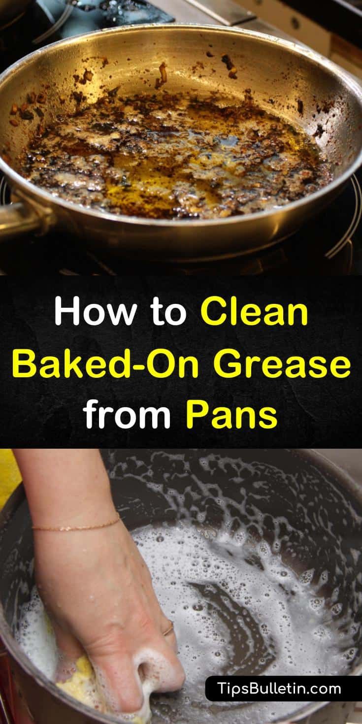 In this short guide, you will learn how to get the worst burnt on black smoke stains from your grease pans. Nothing can stop these home remedies for baked-on pot residue and grease! #baked-on #cleaning #pans