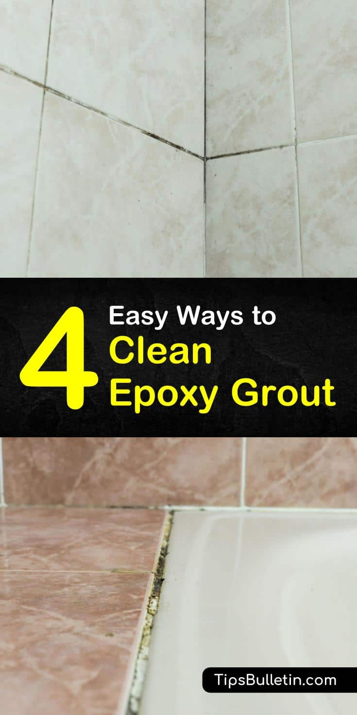 Learn how to clean epoxy grout. Your showers and tile will be free of stains in no time, with little effort. Try out these non-toxic solutions! #epoxygrout #cleaning #epoxy