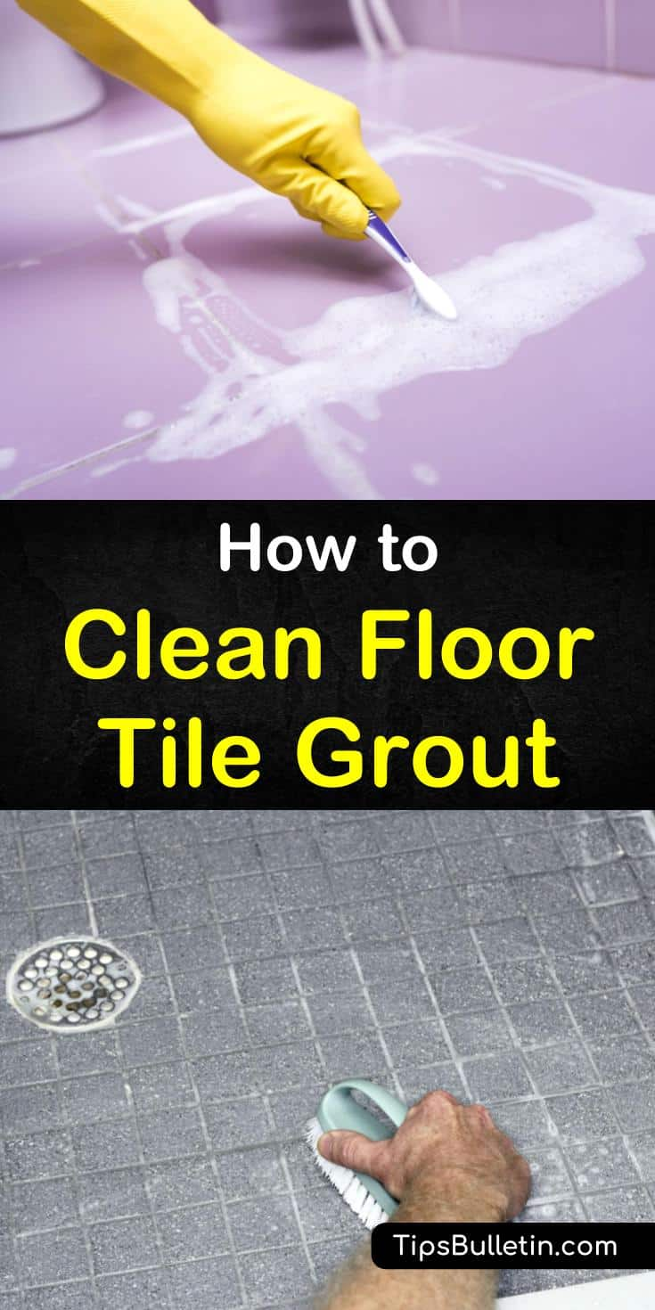 It is simple to learn how to clean floor tile grout. You have everything you need at home and don't have to go out to buy anything special. Take care of stained grout or grout with mildew in just a few easy steps. #grout #floortile# #tilegrout