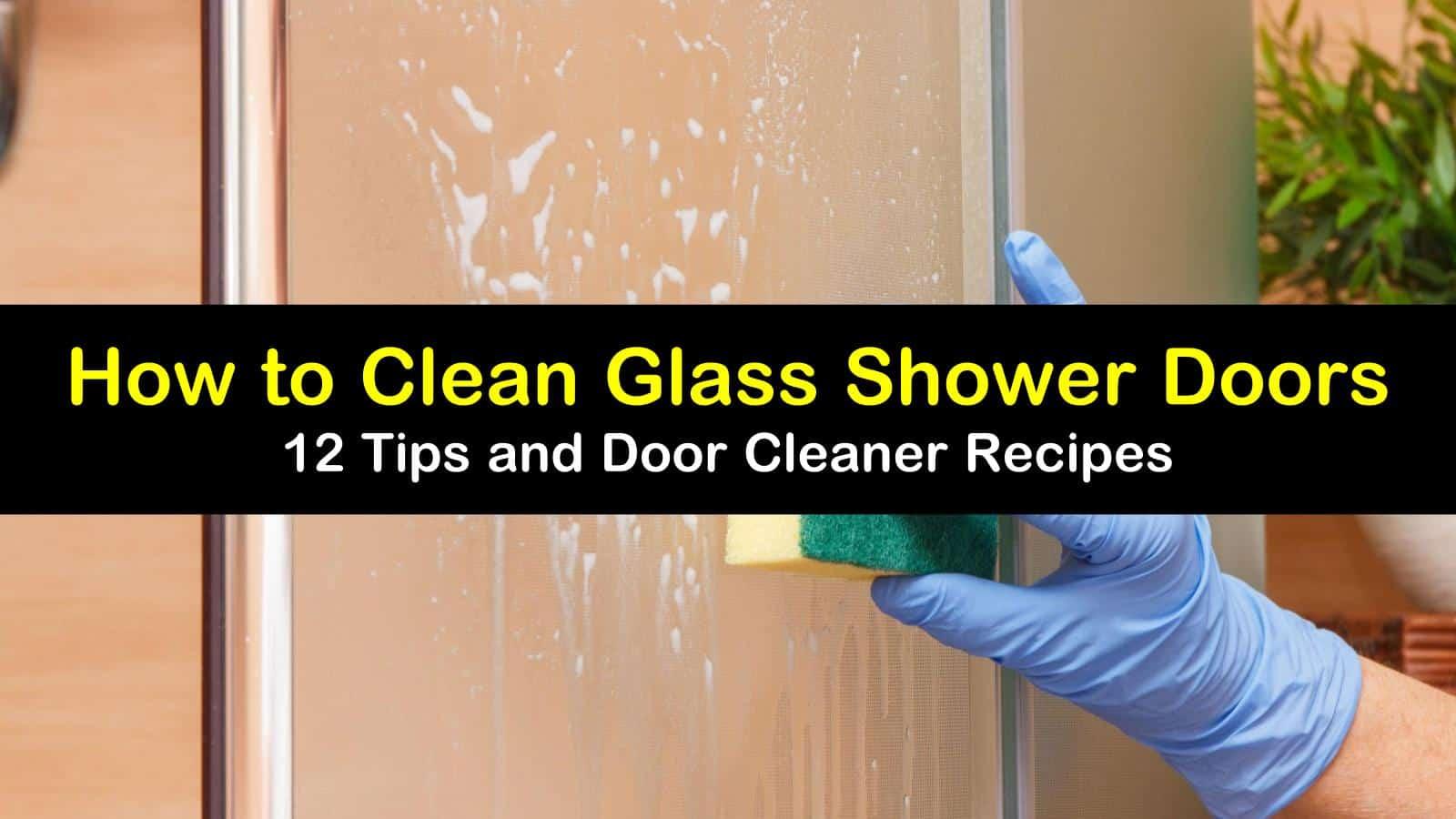 how to clean glass shower doors titleimg1