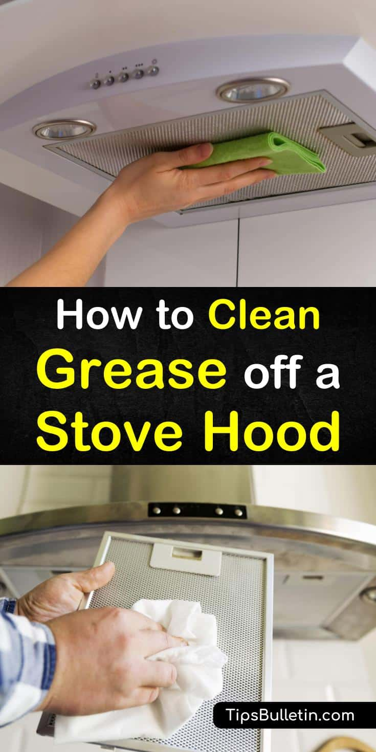 Learn how to clean grease off a stove hood easily using DIY cleaning supplies for cleaner kitchens. There are several household items you can use to remove the grime. Ingredients include water, white vinegar, and Dawn dish soap. #clean #stove #hood #cleanstovehood