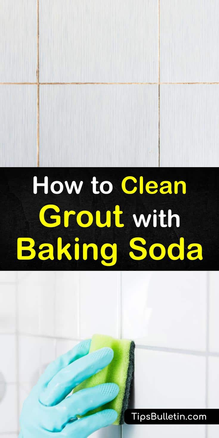Discover how to clean grout with baking soda using natural recipes safe to use on tile. Add other cleaners, like hydrogen peroxide and white vinegar for an extra boost of cleaning power. Use these cleaning tips for moderate grime to heavy mildew build up in grout lines. #clean #grout #bakingsoda
