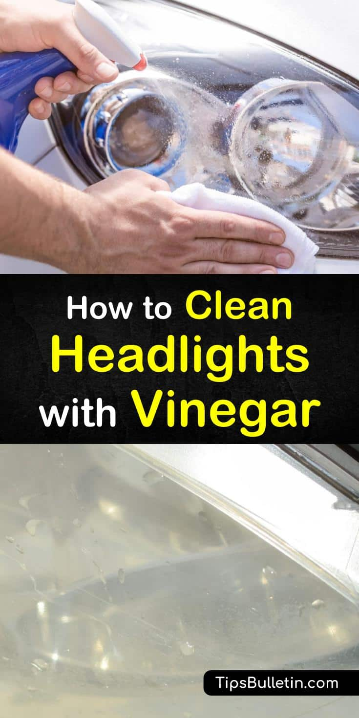 Learn how to clean headlights with vinegar. These DIY tips will teach you ways of using home remedies to clean car headlights. Discover how to make simple car wash cleaning solutions at home. #cleaningheadlights #vinegar #cleaner