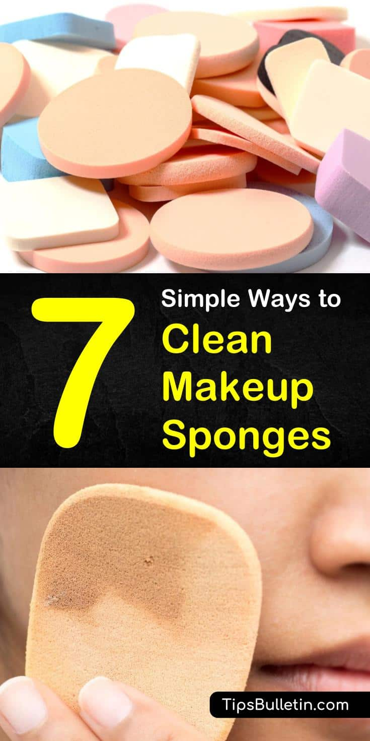We've got beauty hacks for cleaning that beauty blender at home. You can easily clean makeup sponges and brushes with Dawn dish soap. We also have DIY tips for cleaning them in microwave, and with coconut oil. #beautycleaninghacks #makeupsponge #cleaner