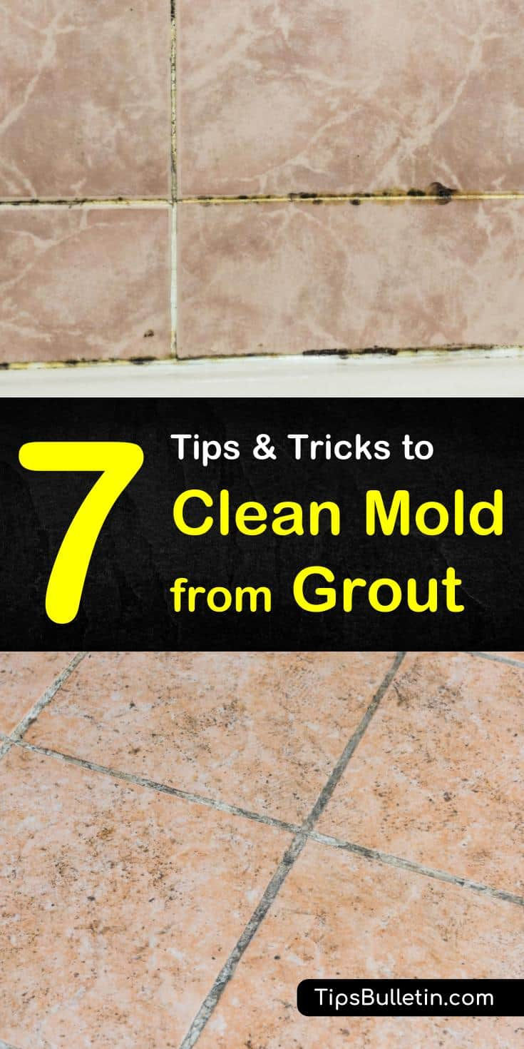 Do you know how to remove mold from shower tile? It is really hard. But with some bleach and a little baking soda, your bathroom can sparkle once again! #mold #grout #cleaning