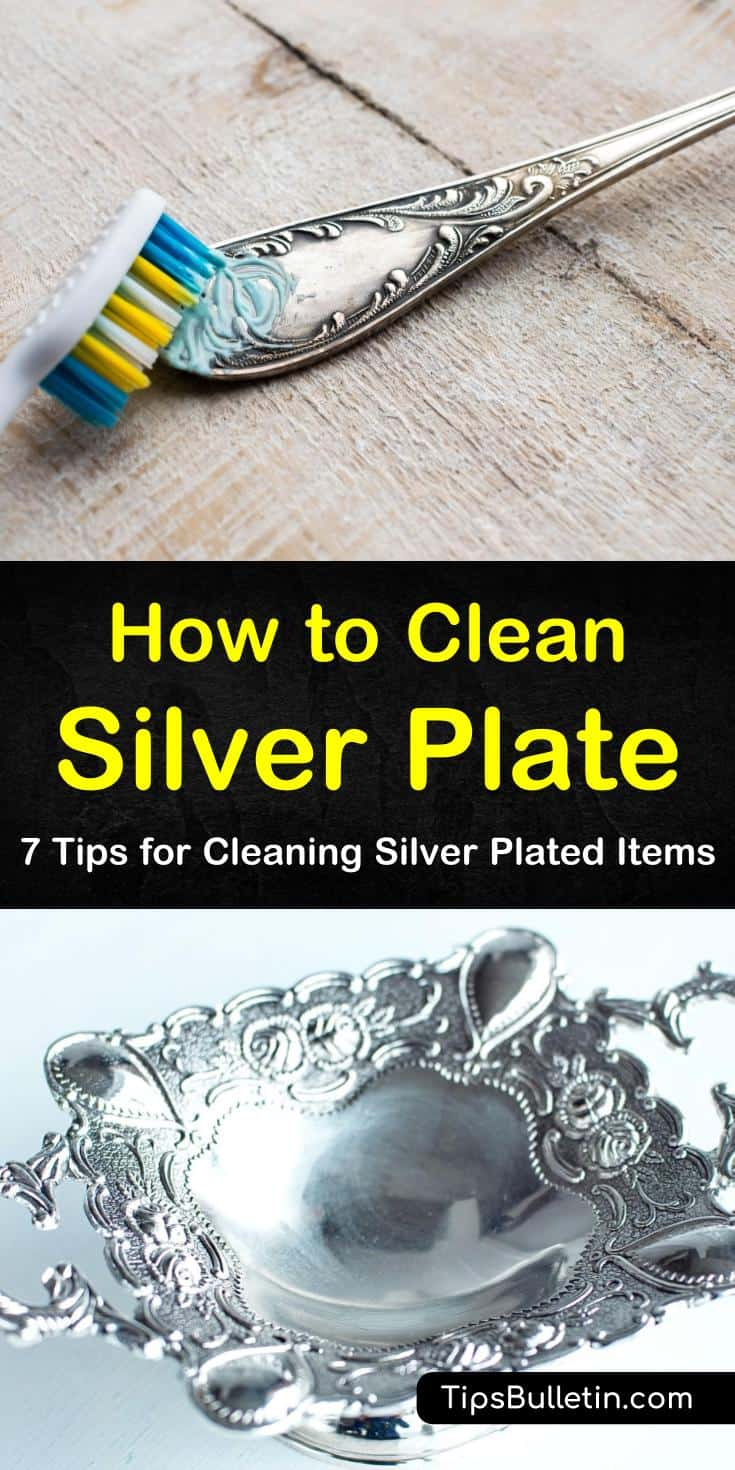 Discover 7 tips for how to clean silver plate using baking soda and dish soap. Remove tarnish using aluminum foil to create a chemical reaction. Use these simple tips and tricks to keep your silver items shiny and rust-free. #clean #silver #plate #plating #removetarnish