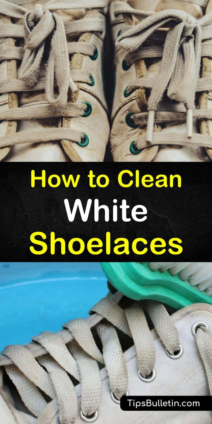 Discover how to clean white shoelaces on sneakers. Your laces look as good as your clean shoes. with our DIY baking soda solutions. #shoelaces #cleaning #cleanshoelaces