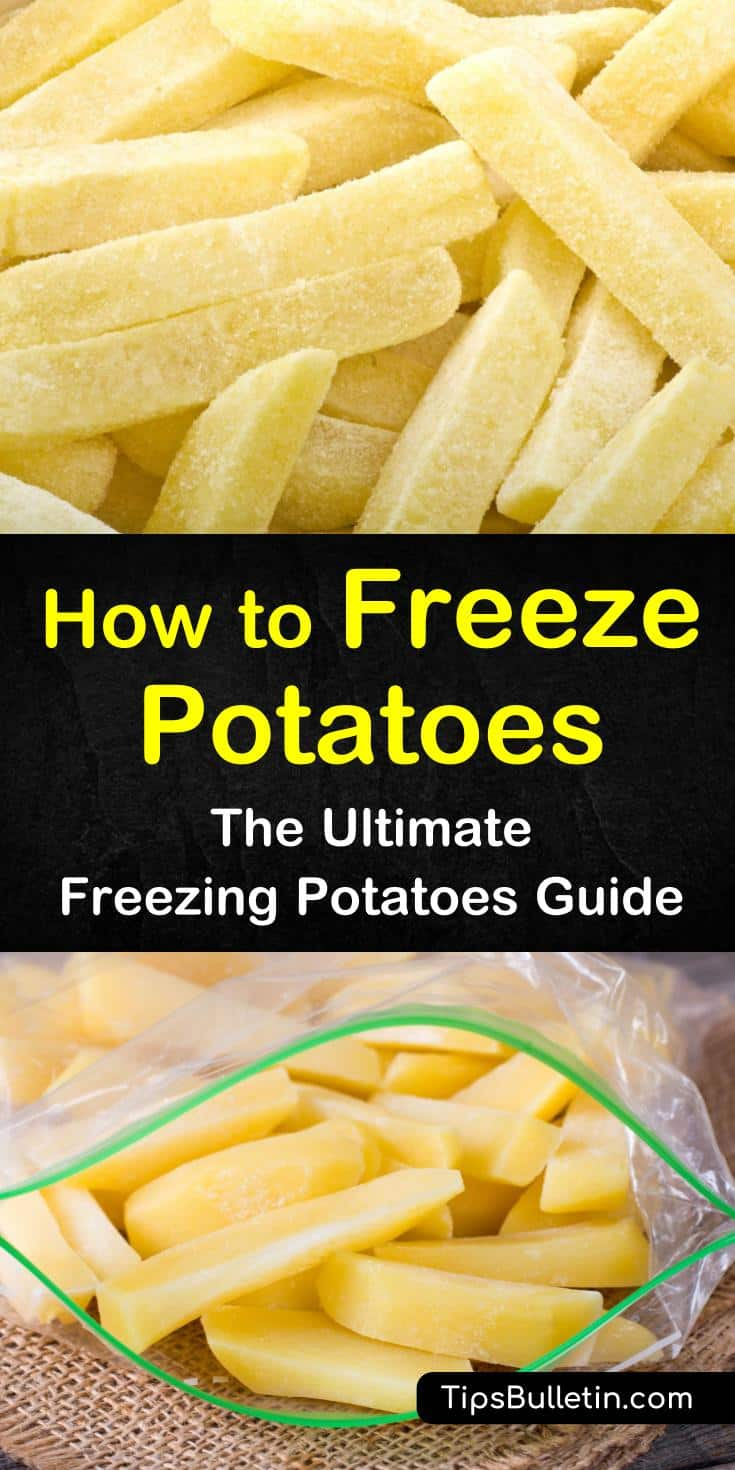 Learn how to freeze potatoes raw using blanching methods. Discover how to store mashed potatoes and french fries that have already been cooked. Try a new recipe for how to make a yummy casserole from frozen potatoes. #howto #freeze #potatoes