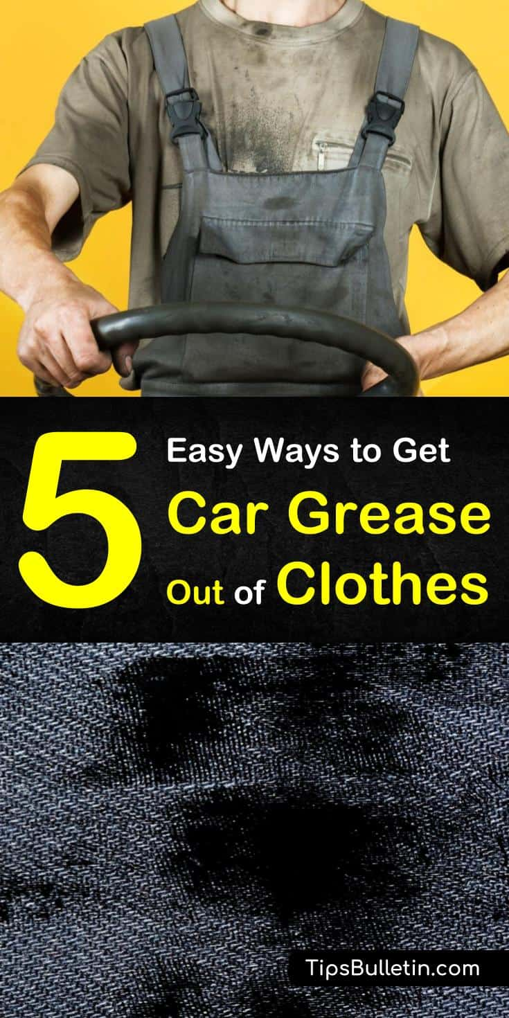 Grease stains whether from the garage or the kitchen are bound to happen. Using some of our cleaning tips you can learn how to remove oil stains from shirts with baking soda and other household items. #cargrease #greasestains #laundry