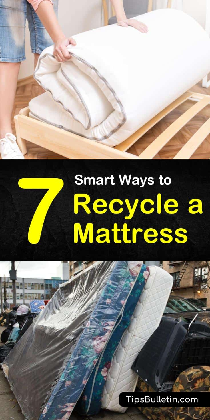 Learn how to recycle a mattress and box springs in the most ingenious ways possible. Find out 7 fun DIY ways to give your vintage beds, baby cribs, and bedding a really nice finishing detail. #recycleamattress #mattress #recyling