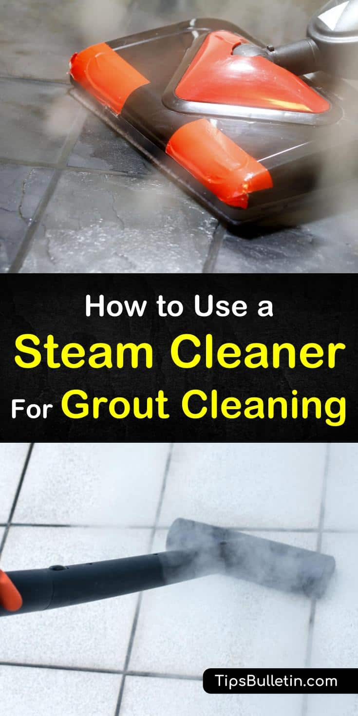 Find out how to use a steam cleaner for grout cleaning with our handy guide. We show you how to get your bathroom and shower floors looking like new again and help you keep your family safe from mold and mildew. #steamcleaner #groutcleaning #steamcleangrout