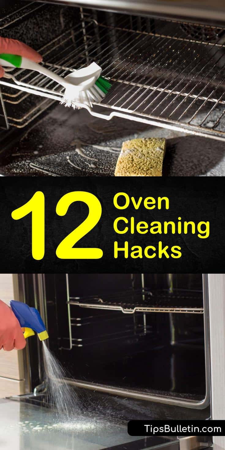 Check out our quick and easy oven cleaning hacks using natural ingredients. We've got simple recipes using baking soda, white vinegar, and hydrogen peroxide. You can even steam clean your oven with ammonia. #oven #cleaning #hacks