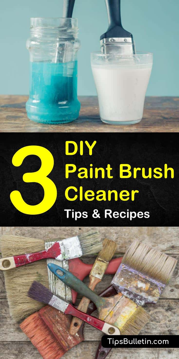 Is your paintbrush full of oil or acrylic paint? These DIY tips with white vinegar, baking soda, and water can solve your problems! #paintbrushcleaner #brush #diy