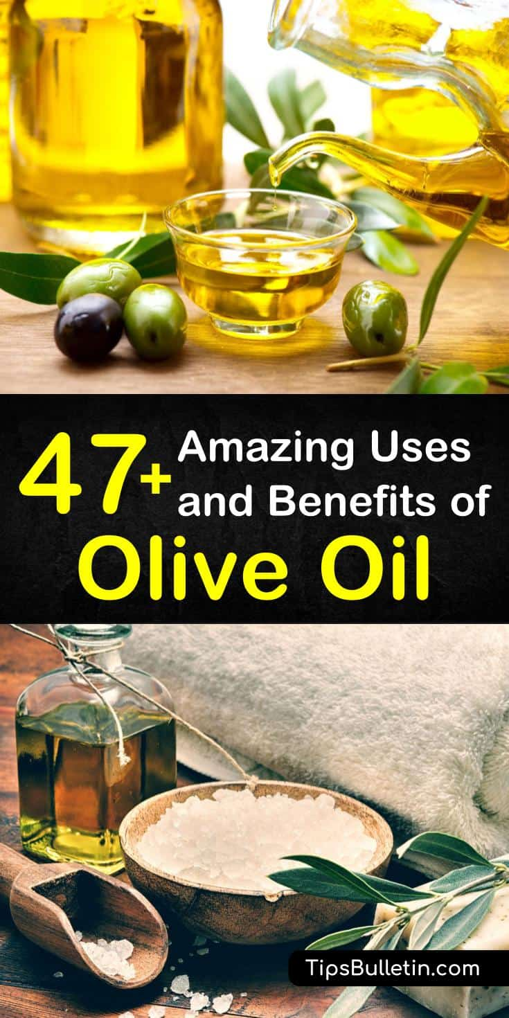 Try any of these spectacular benefits of olive oil for home, health, and beauty routines. Find out how olive oil can reduce your risk of diabetes and heart disease. Learn the best beauty hacks involving olive oil and add them to your skin or hair care regimen. #benefits #oliveoil #beauty #health