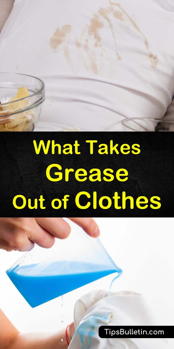 Learn about three of the best easy home remedies to get stubborn grease stains out of clothes. Discover how to remove oil stains with baking soda, laundry detergent, dishwashing liquid, and dish soap, and revitalize your clothing instead of throwing it out. #greasyclothes #greasestains #clothes