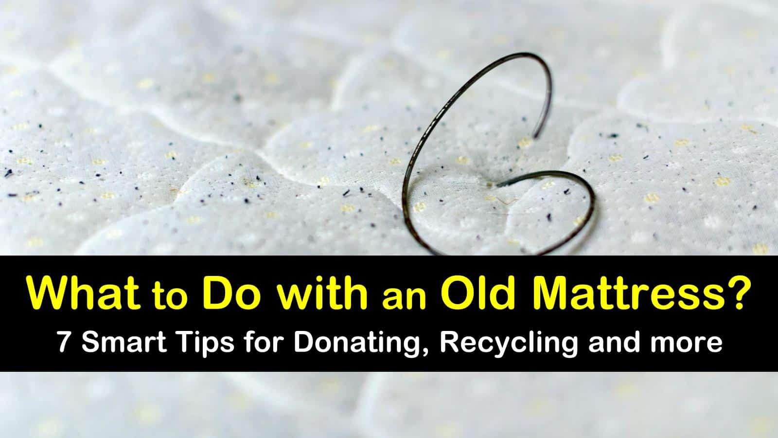 what to do with an old mattress titleimg1