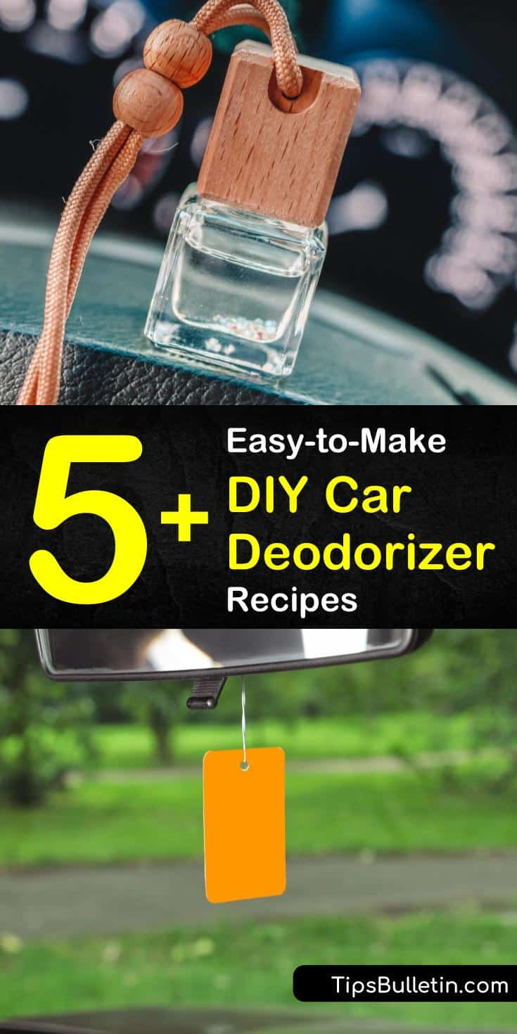 You can create a unique car air freshener for your car using essential oils. Deodorize your car's interior using baking soda and your favorite essential oil to remove odors and give it a fresh scent with our DIY car deodorizer recipes. #cardeodorizer #diycarfreshener #deodorizecar