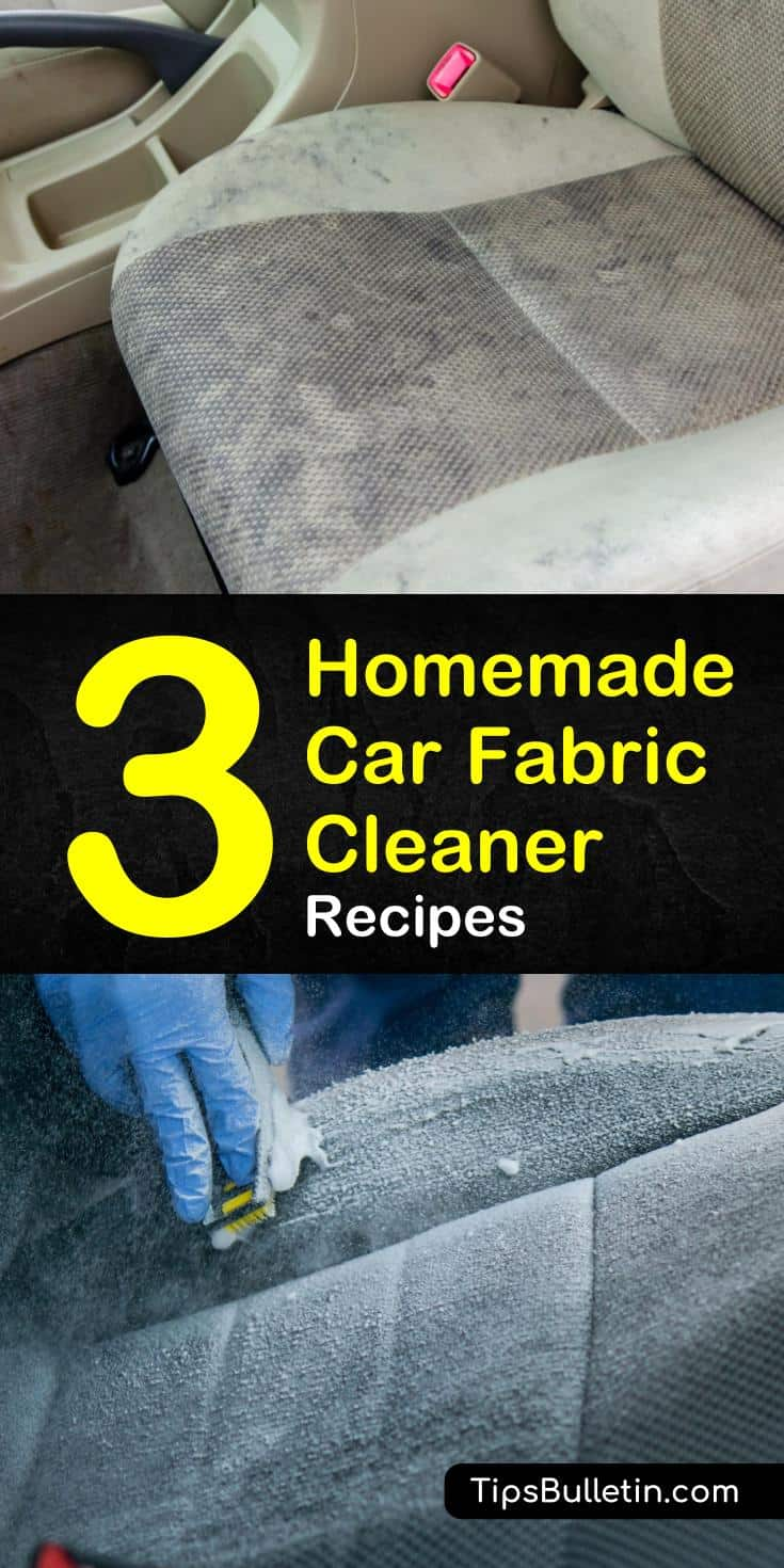 Learn tried-and-true homemade car fabric cleaner recipes with our guide, and keep your car looking and smelling great. Our DIY cleaners will make your car's carpet and upholstery seem like brand new again. #carcleaning #carfabric #diycleaner