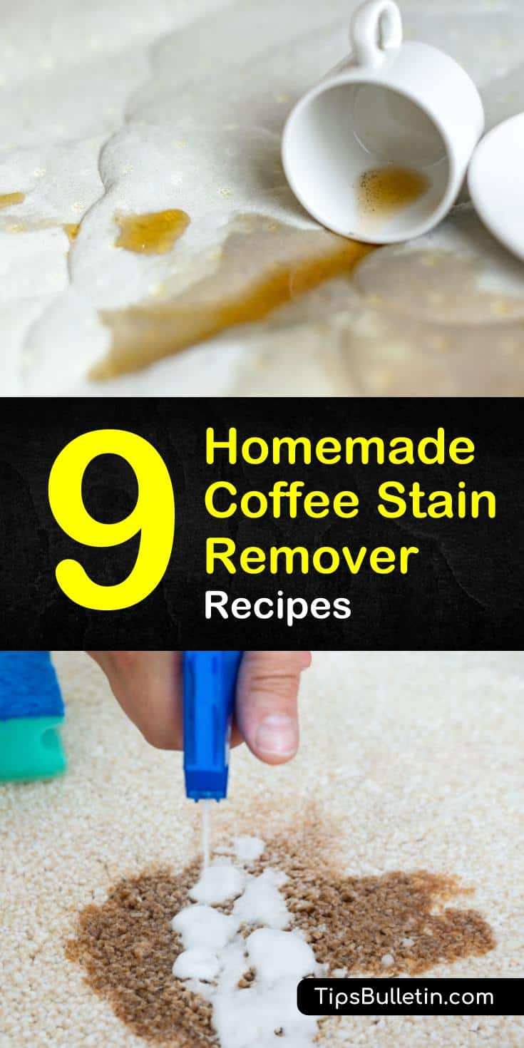 Discover the best homemade coffee stain remover to use on upholstery and car seats. Learn how to remove coffee stains from clothes using vinegar or rubbing alcohol. Find out which cleaning products work best on white fabric, a couch, and even teeth! #homemade #coffee #stain #remover