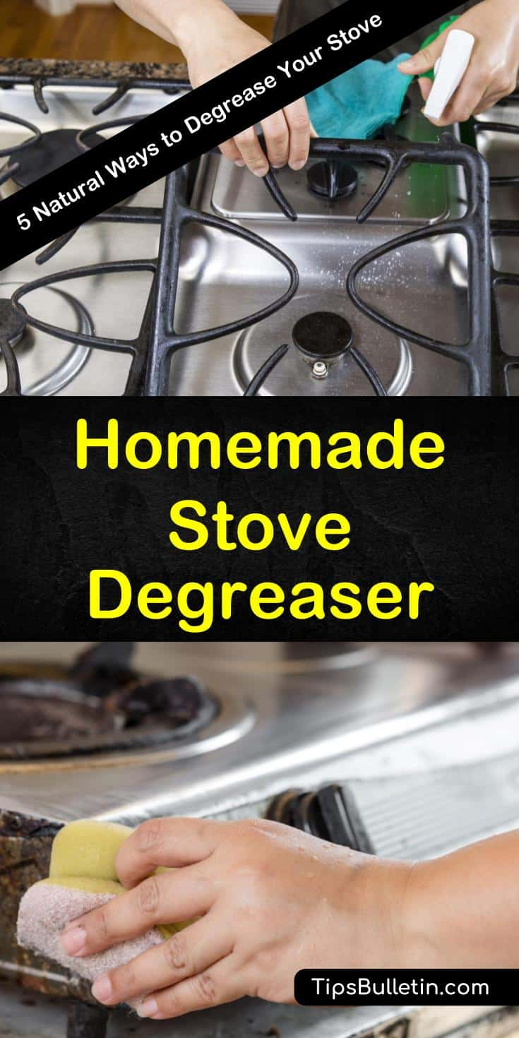 Discover how to make the best homemade stove degreaser in this DIY guide full of cleaning tips. Find out how to use baking soda, white vinegar, essential oils, and more to create effective cleaners from the comfort of your home - and for an excellent price, too! #degreaser #stove #cleanstove