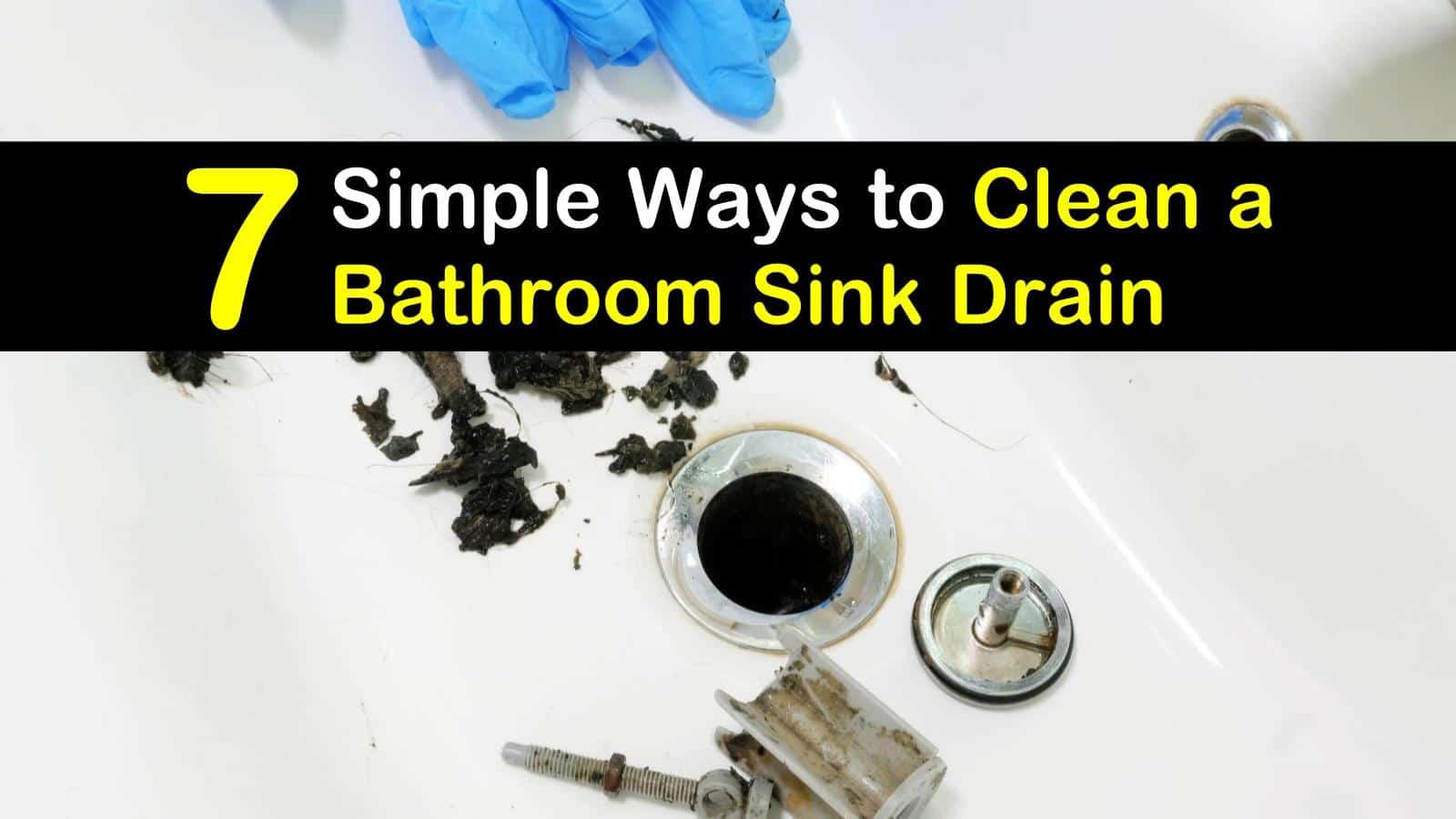 how to clean a bathroom sink drain titleimg1