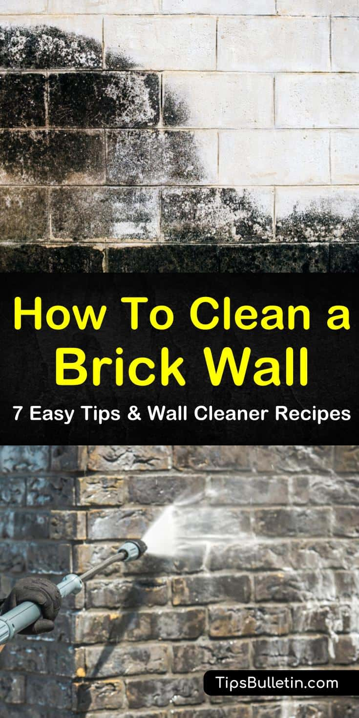 Learn how to clean a brick wall using everyday ingredients like baking soda and bleach. Clean exterior walls with a powerful detergent and pressure washer. Apply vinegar to brick interiors for an overall clean and disinfectant. #clean #brick #wall