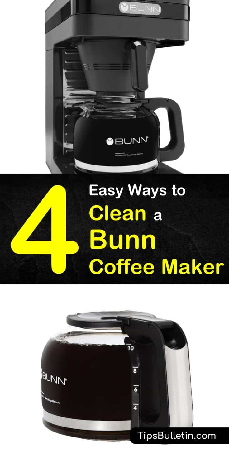 Learn how to clean a Bunn coffee maker with our guide, and enjoy delicious coffee all year long. We show you how to keep your coffee maker clean using vinegar, baking soda, and other household items. #coffeemaker #cleaning #descale