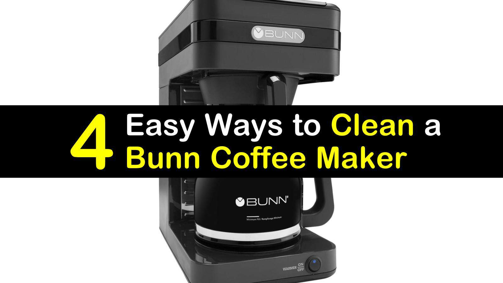how to clean a Bunn coffee maker titleimg1