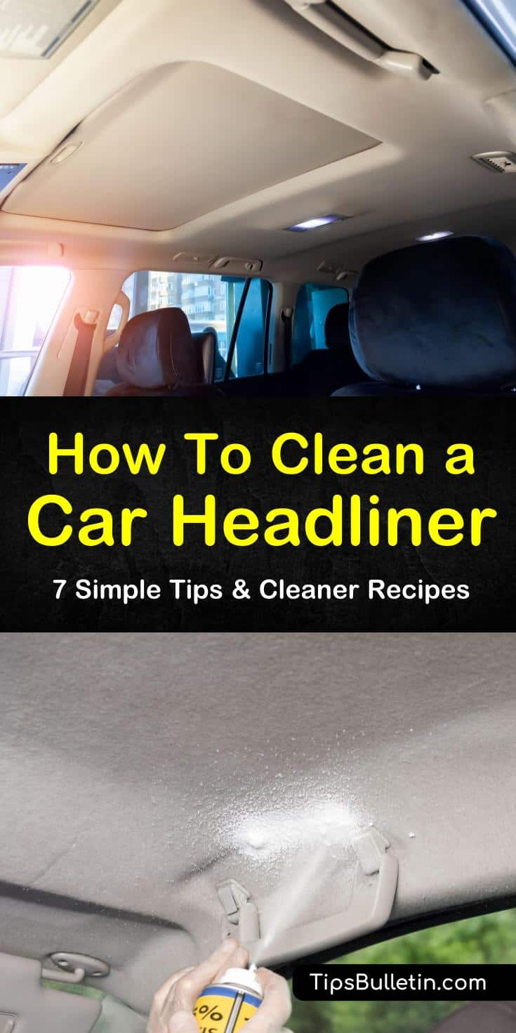 We give you step-by-step instructions for cleaning ceilings of your car using various cleaning methods. You can make a DIY cleaning solution using vinegar, baking soda, and water to remove tough stains and bad odors. #carheadlinercleaner #carceilingcleaner #howtocleanacarheadliner