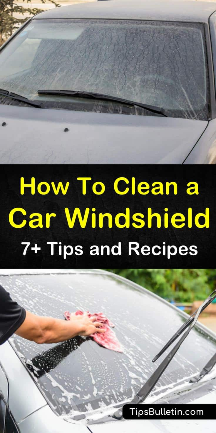 Discover how to clean a car windshield the right way with our comprehensive guide. We show you how to get your car's glass windshield looking like new again using simple household cleaners and elbow grease. #glasscleaner #carwash #windshields