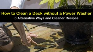 how to clean a deck without a power washer titleimg1