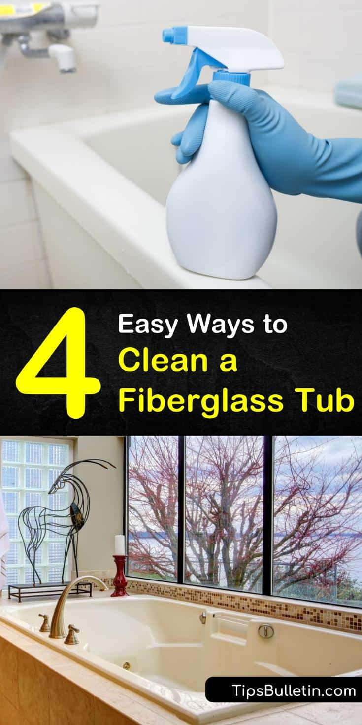 Discover the best ways for how to clean a fiberglass tub and your shower floor. Use helpful cleaning products like baking soda and hydrogen peroxide to remove soap scum and stains. Find out how easy it is to clean your bathtubs with these common ingredients and supplies. #clean #fiberglass #tub