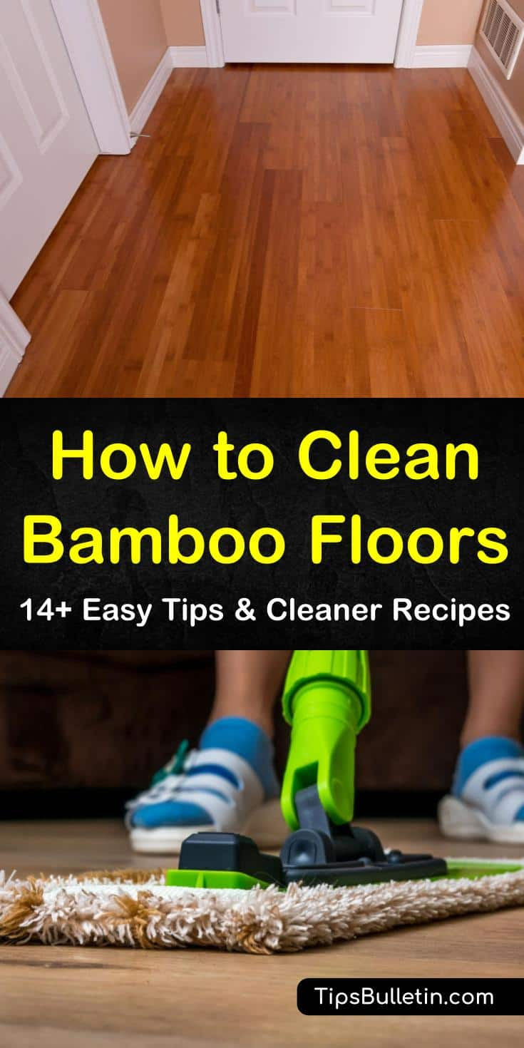Bamboo floor cleaning requires you to avoid using a steam mop and certain cleaning solutions. When you clean bamboo flooring you want to use a damp mop and hardwood floor cleaner that is safe to use on bamboo flooring. #bamboocleaning #cleaningbamboofloors #bamboofloor