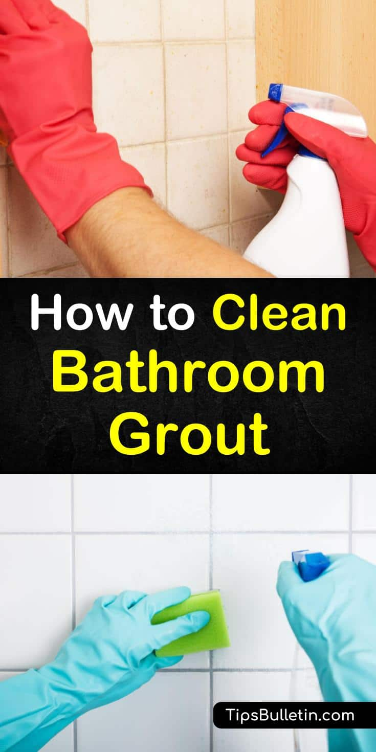 Learn how to remove soap scum and shower mold from tile grout in kitchens, tubs, showers, and floors. We've got DIY grout cleaning recipes using household ingredients such as hydrogen peroxide and baking soda. #cleanbathroomgrout #cleangroutlines #howtocleangrout