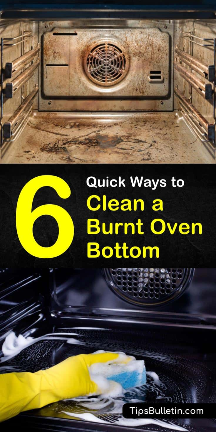 Find out how to clean a burnt oven bottom with a homemade treatment and DIY remedies. There are several common household products that you can use to clean your oven fast. Ingredients include white vinegar and baking soda. #cleanoven #homemadeovencleaner #burntoven