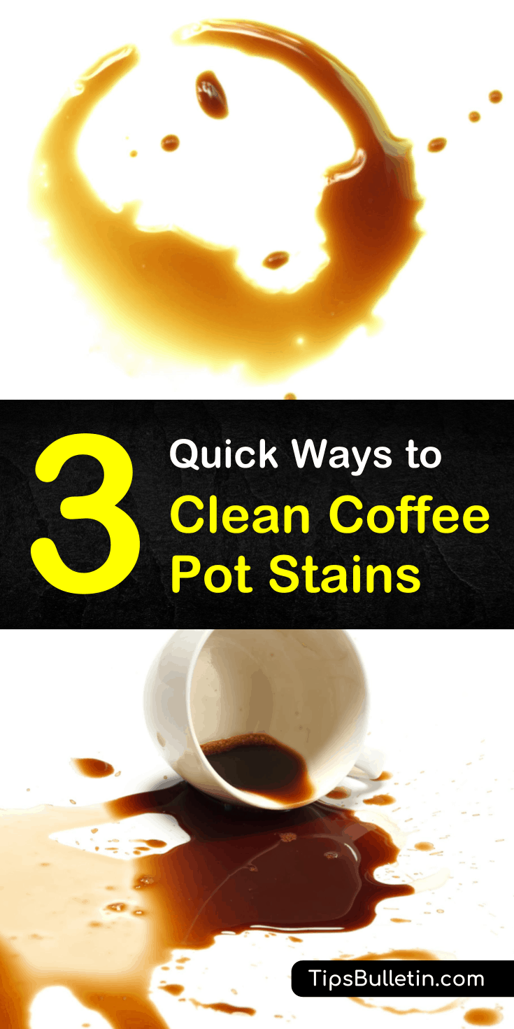 Discover the best ways for how to clean coffee pot stains in this guide. Learn how to remove stubborn coffee stains from the inside of your coffee pots with these tips and tricks, and some will even work to take coffee stains from clothes, too. #coffee #coffeepot #stains