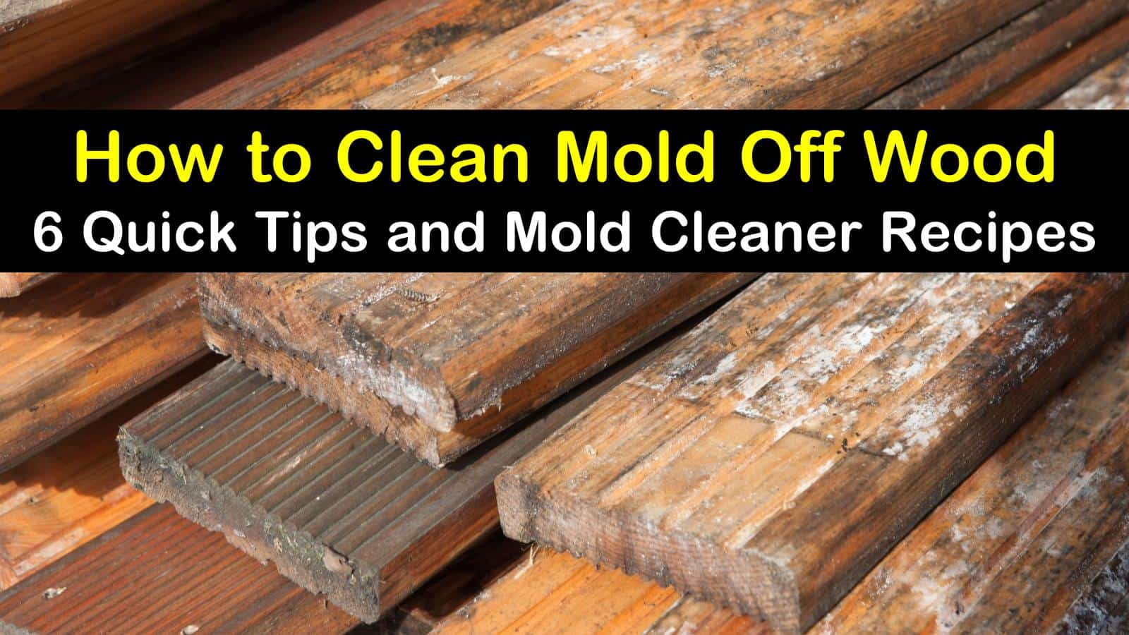 6 Quick Ways To Clean Mold Off Wood