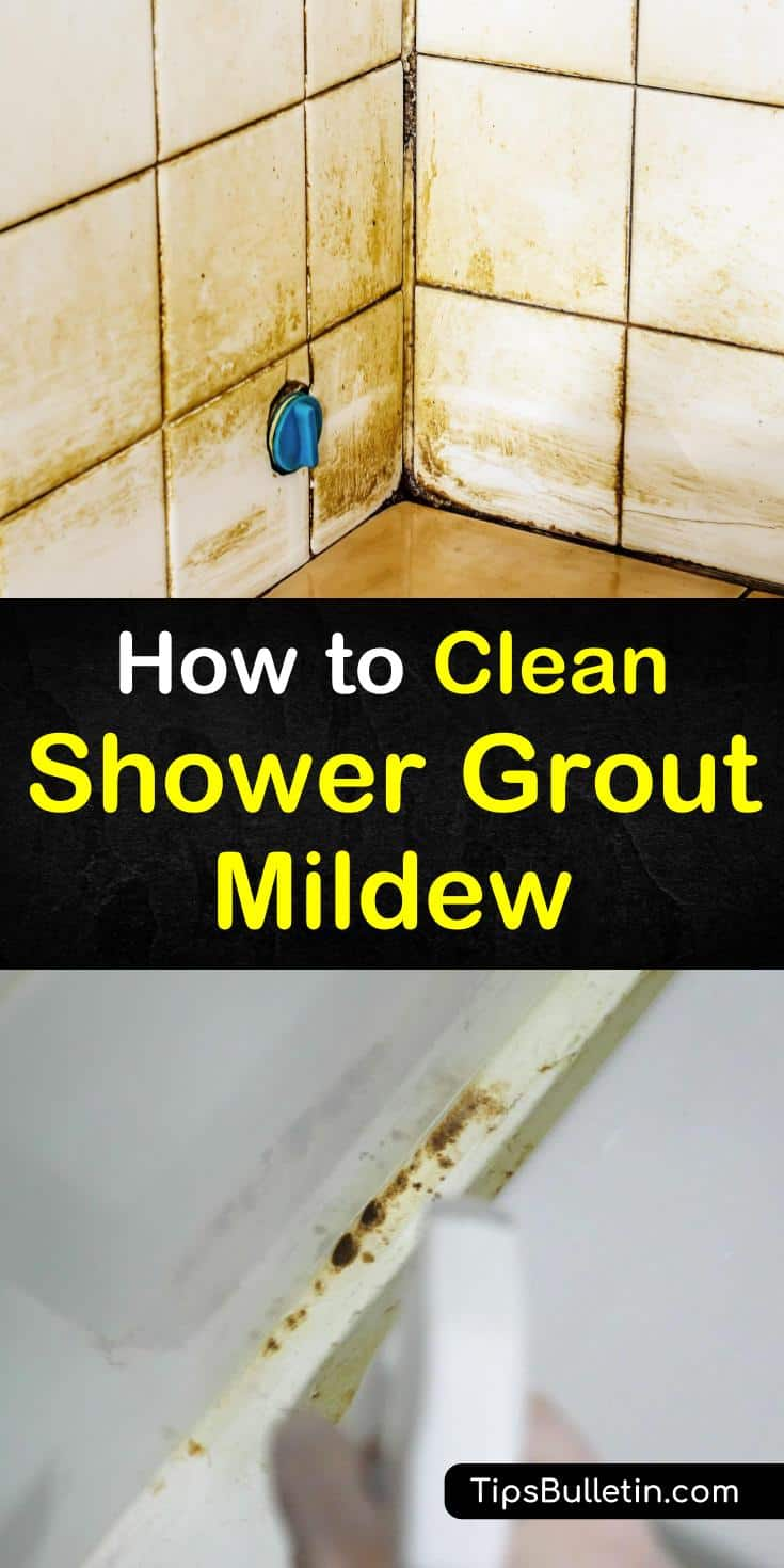 Discover the best methods for how to clean shower grout mildew. Try any of these four easy steps to eliminate film and scrub mildew stains from tile. Use everyday cleaners like hydrogen peroxide and baking soda to blast through soap scum, mold, and mildew. #clean #shower #grout #mildew