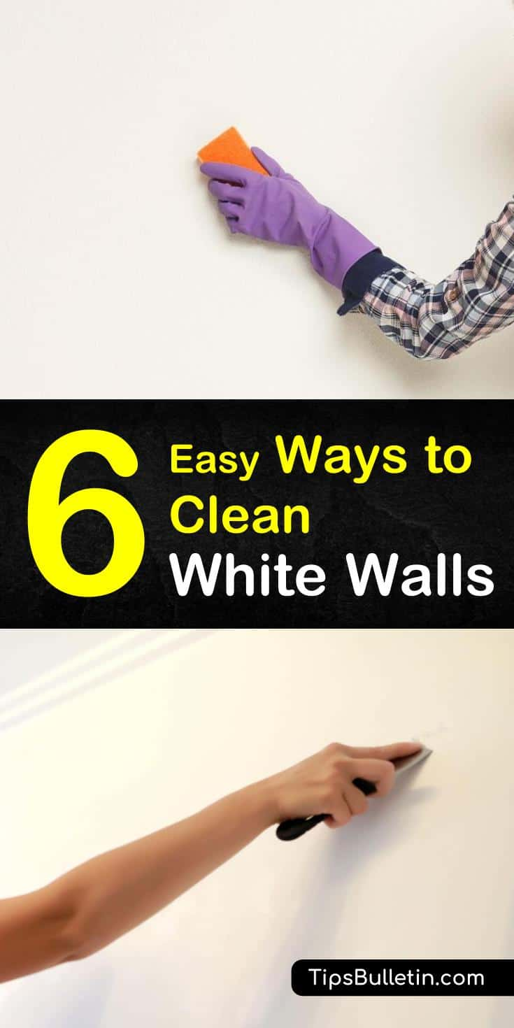 Learn how to remove dust from your white walls so you can get them looking brighter than ever! These DIY cleaning solutions are easy to make and use ingredients like baking soda that are staples in most houses. #wall #cleaning #diy #wallcleaner #cleanwhitewalls