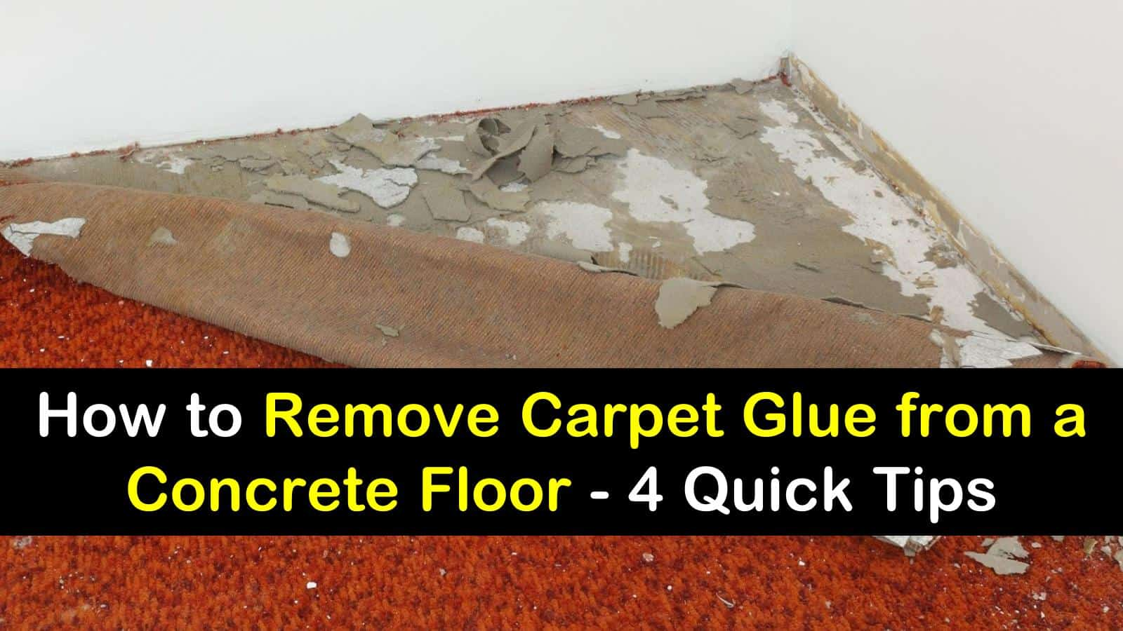 Remove Carpet Glue From A Concrete Floor