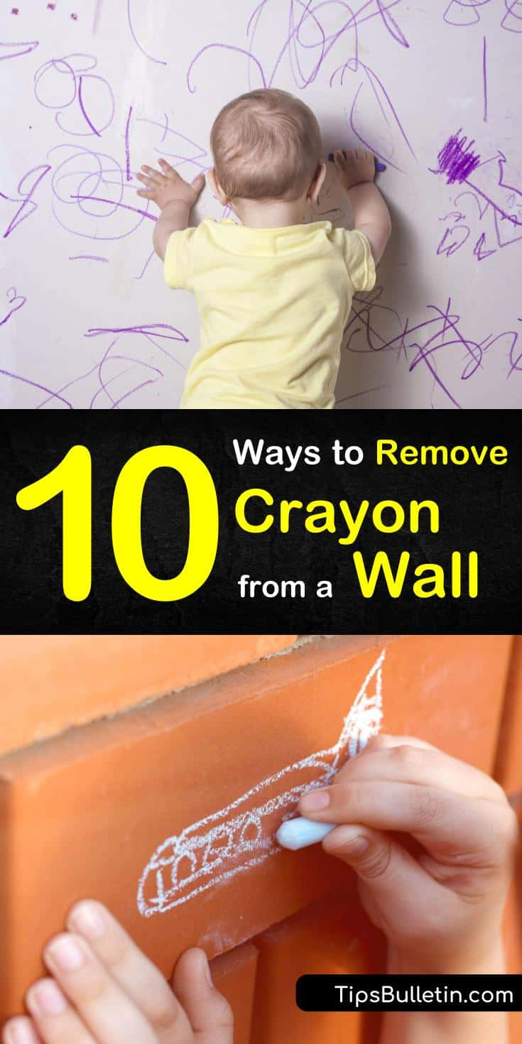 Find out how to remove crayon from a wall the DIY way with our guide. We show you how to use baking soda and other household cleaning solutions to get your walls clean, bright, and crayon-free. #crayon #wall #cleaning