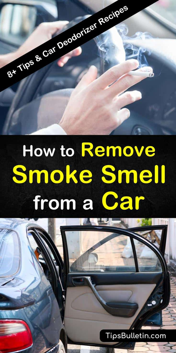 Getting rid of a smoke smell inside your car is hard. Let us show you how to get rid of the smell using baking soda and essential oils to absorb and eliminate the worst odors coming from your car and vents. #smoke #smell #car #stinkycar