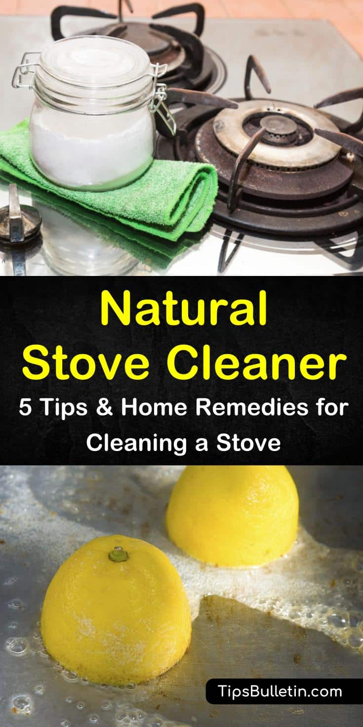 Learn how to turn baking soda, white vinegar, and essential oils into a natural stove cleaner with our guide. We help you create the best stove cleaner for glass, enamel, and stainless steel stovetops. #naturalcleaner #stovecleaning #oven