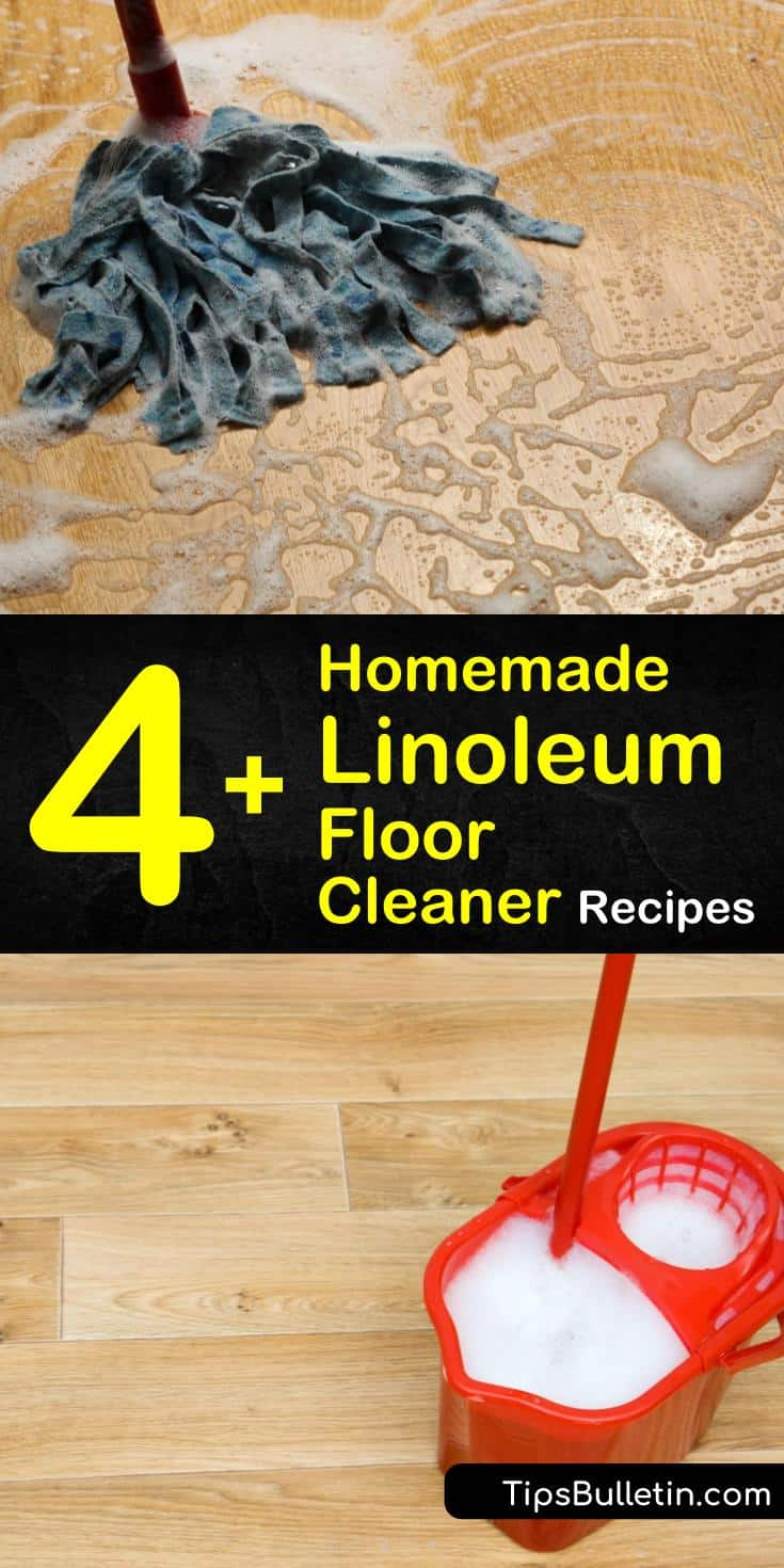 Discover the perfect DIY recipe for homemade linoleum floor cleaner with our guide. We show you the best way to deep clean yellowed or dirty vinyl or linoleum in bathrooms and kitchens using baking soda and other natural ingredients #linoleumcleaner #homemadelinoleumcleaner #diycleaning