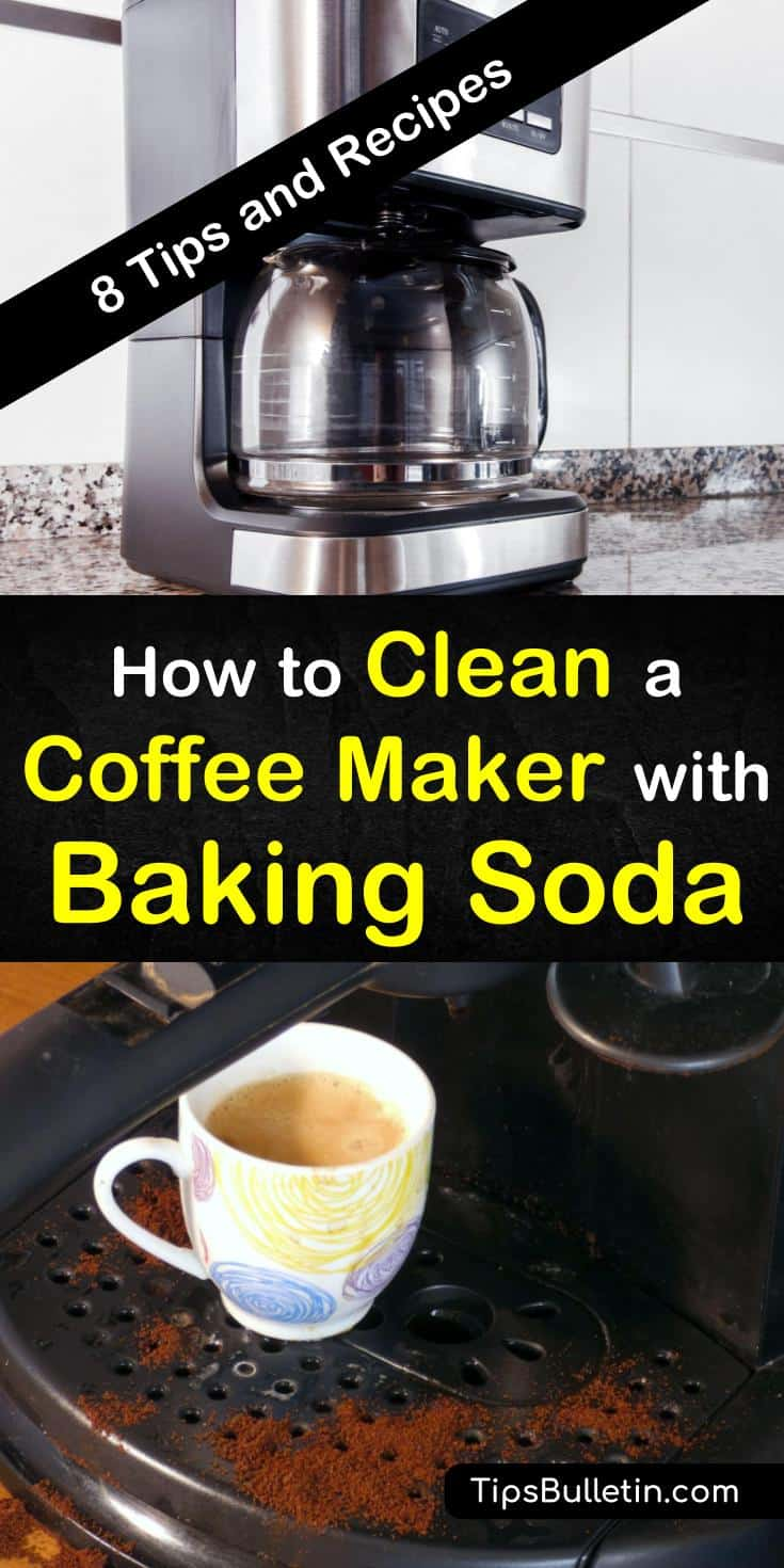 Over time, your fresh tasting cup of coffee will change flavors. To keep your coffee tasting fresh you need to learn how to clean your coffee maker using household ingredients like vinegar and baking soda. #coffeemaker #cleaning #bakingsoda