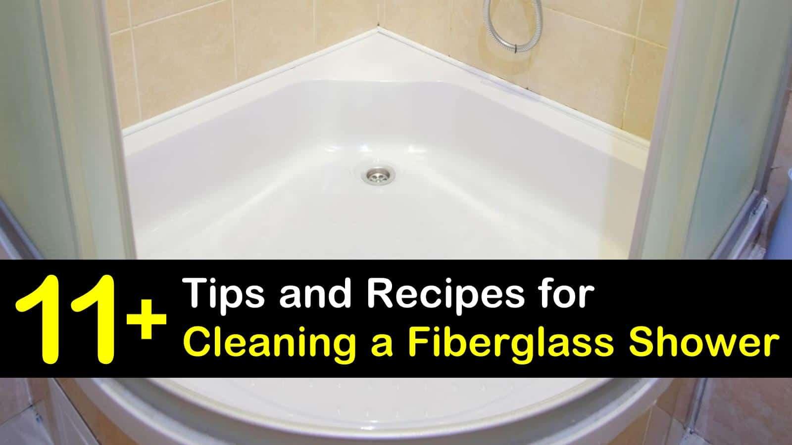 how to clean a fiberglass shower titleimg1