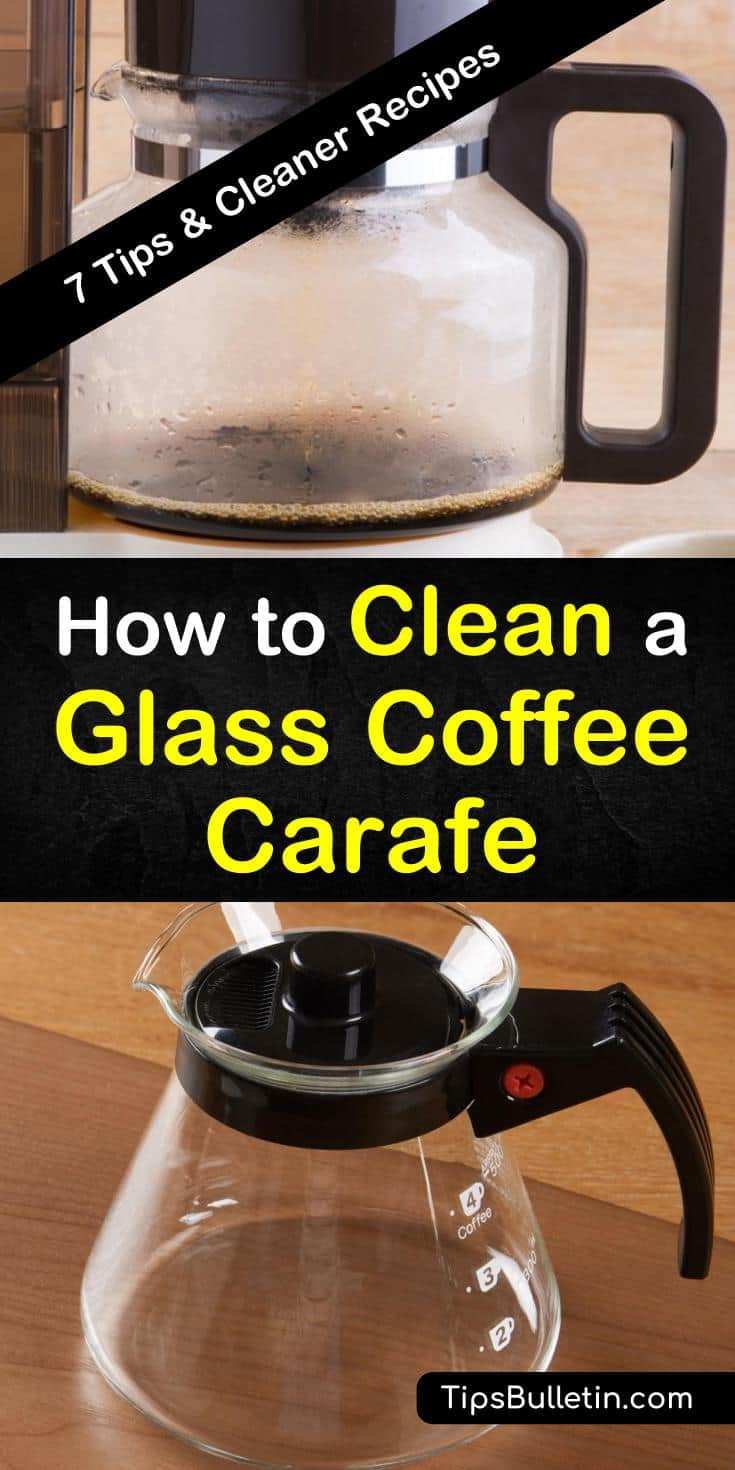 Learn how to carefully clean a glass coffee carafe in this guide. While glass carafes are popular and beautiful, they're prone to stains and discolorations that might discourage you from using them. Try these tips and tricks for cleaning them now. #cleaning #carafe #glass