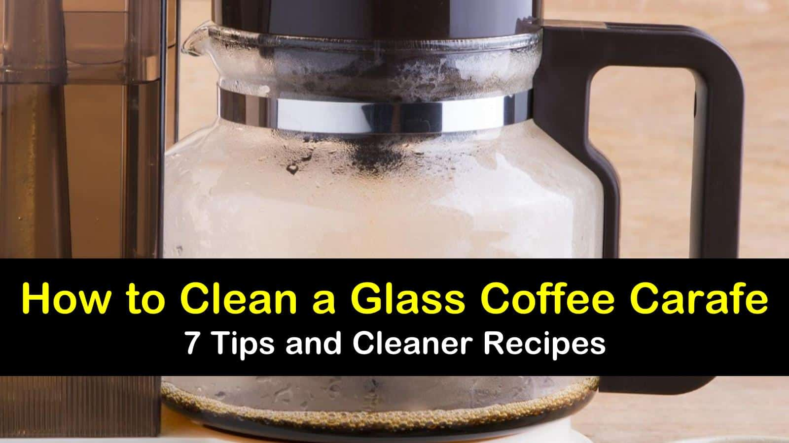 How to Clean a Glass Coffee Carafe - 7