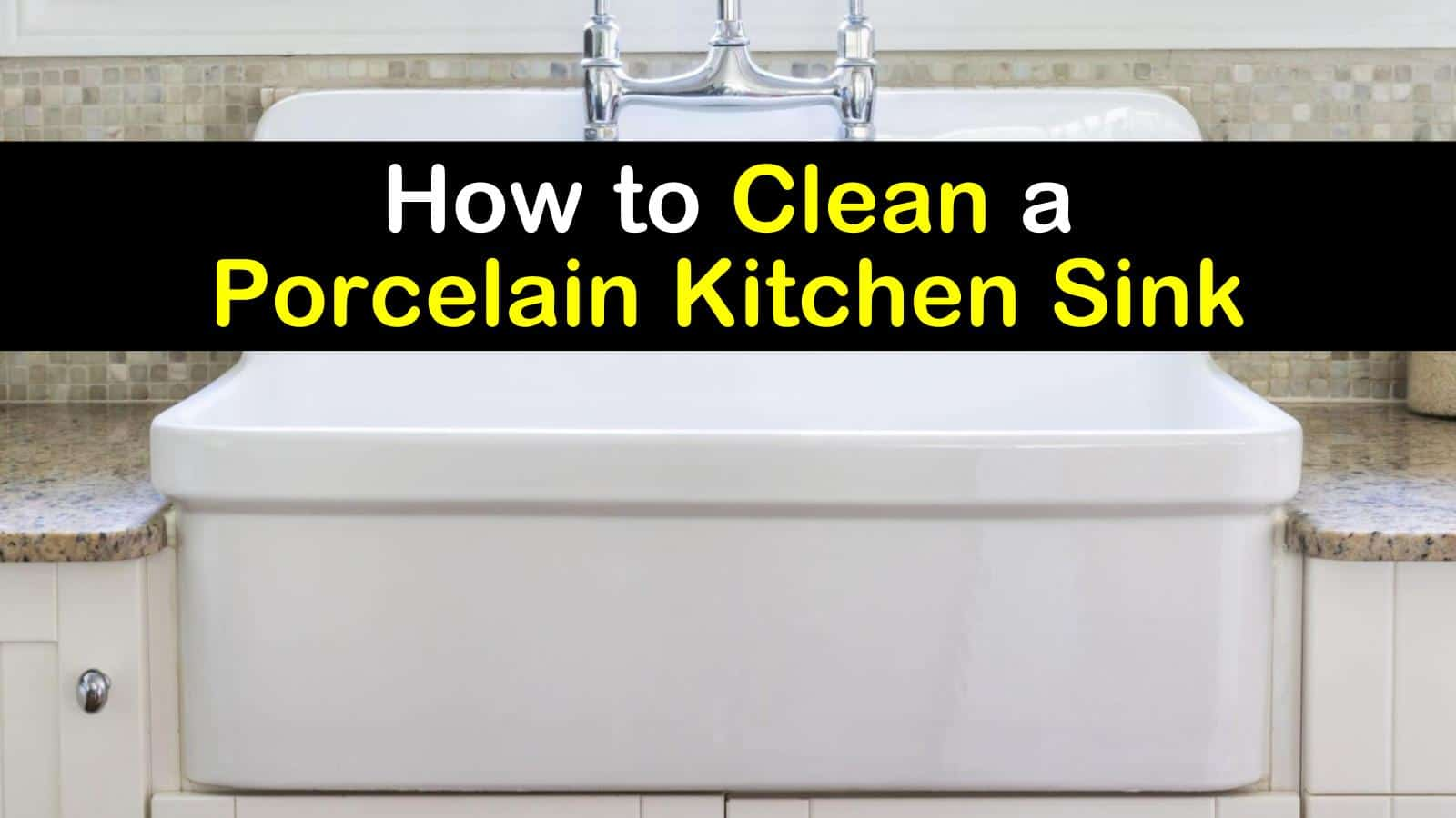 how to clean a porcelain kitchen sink titleimg1